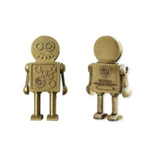 Steampunk Robot Geocoin - Antique Bronze